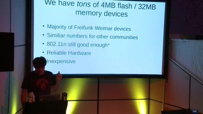 Fight for the bytes! Fun with Four Megabytes Flash