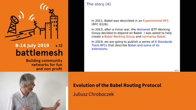 Evolution of the Babel Routing Protocol