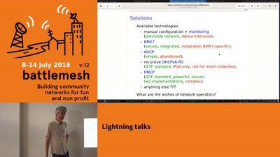 Lightning Talk: Network Autoconfiguration