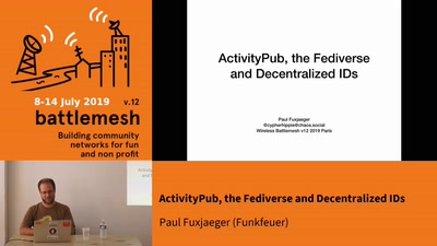 ActivityPub, the Fediverse and Decentralized IDs