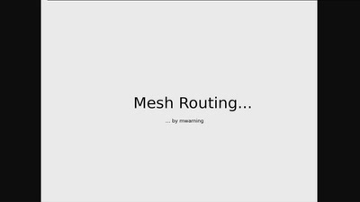 A simulator for sketching mesh net routing algorithms